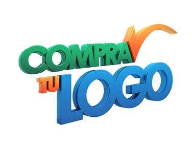 "3D Logo for ""Compra Tu Logo"""