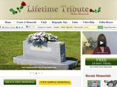 Lifetime Tribute - Membership Site