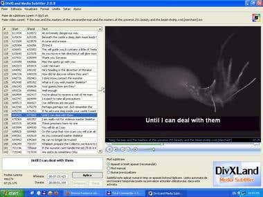 Transcription and subtitle making