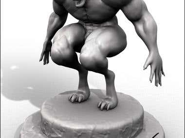 Werewolf Sculpture