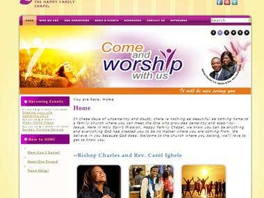 Joomla Site for Church