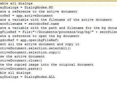 Photoshop JS script