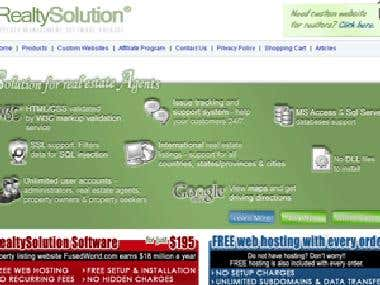 iRealtySolution Real Estate Listings Portal