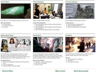 Metro newpaper website in worpress
