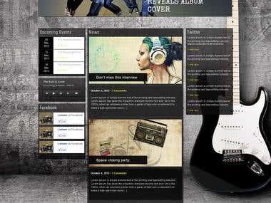 Music web desing