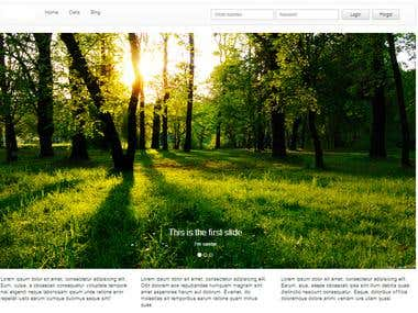 Page with Bootstrap 3