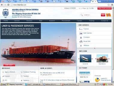 Ship India Corporation Web Site