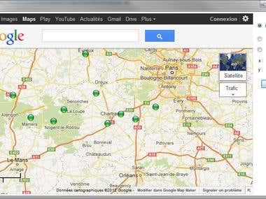 c# Web Browser Ovelay on Goole Maps