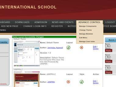 CMS Portal (http://www.geniusstudycircle.com)