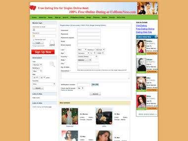 Dating site custom work