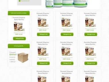 Natural loss weight shop homepage