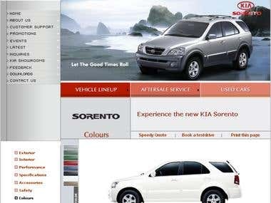 KIA Motors Website