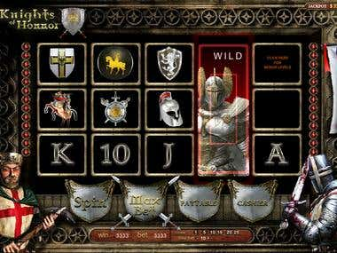 Game design for slot machine