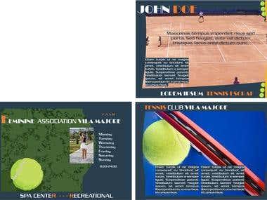 Tennis flayer - power point