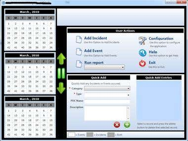 Calender based Event / Incident management