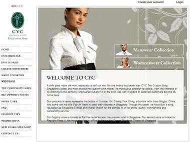 CYC Custom Apperals Portal