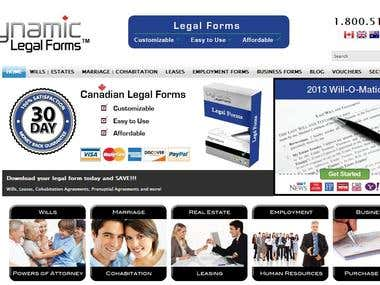 Dynamic Legal Forms