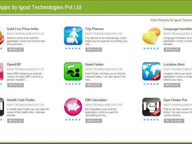 Our Android application in Google Play