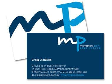 McMahons Point Real Estate - logo and stationery design
