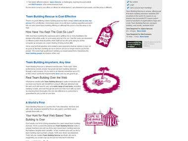 Joomla website on team building