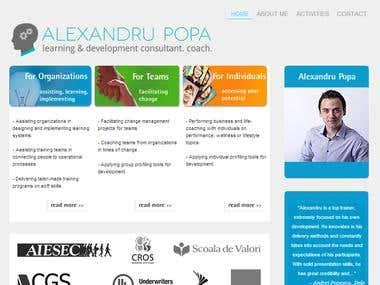 Presentation website in WordPress for top trainer