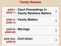 CT Family Law Statutes iPhone and iPad app.