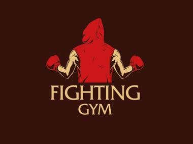 Fighting gym logo