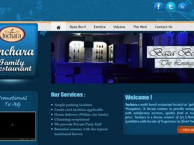Inchara Restaurant Web Designing