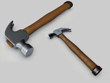 3D model of an hammer