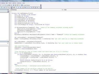 Excel sample 2