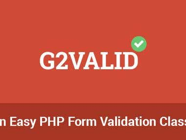 G2 Valid,OOP PHP Validation Class