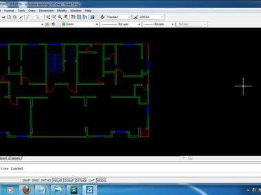 Auto Cad building plan drawing
