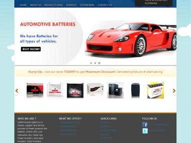 Battery store website