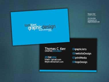some business card designs