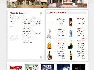 Trading company website