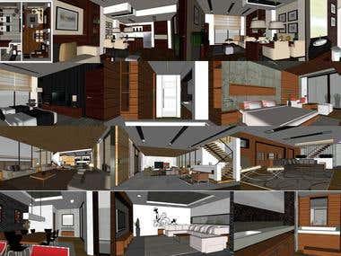 Interior SketchUp Model