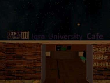 Proposed 3D Cafe Project For A University