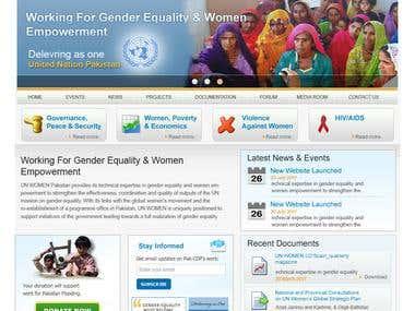 UN Women Website Design
