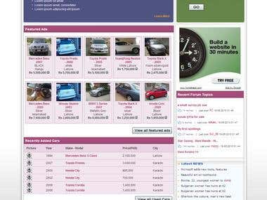 Sales Purchase Cars, properties, website design