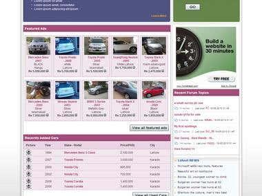 Sales Purchase Cars, properties, website design