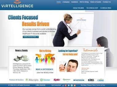 Virtelligence INC website design