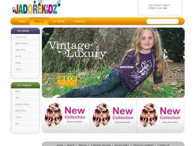 Jadori Kids website design