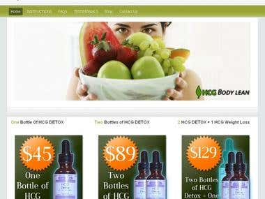 HCG Diet E-commerce website