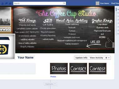 Facebook cover - Online marketing Co