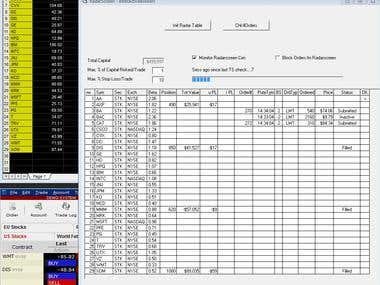 VB6 program that links Tradestation with Interactive Brokers