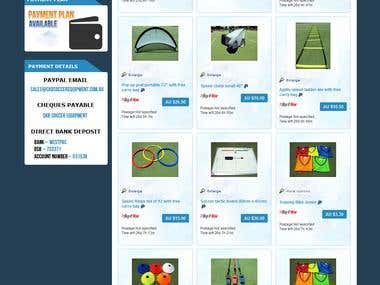 Ebay Store, Listing and pages Design
