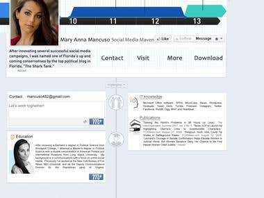 Facebook Cover like Resume