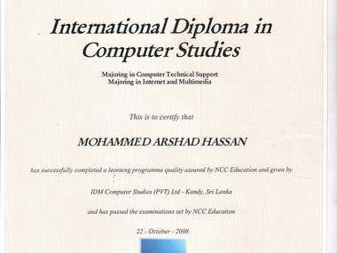 International Diploma in Computer Studies