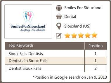 SEO & ORM for Dentist in Sioux Falls