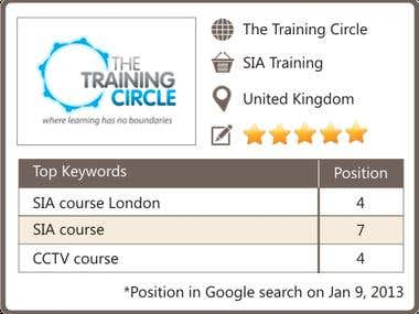 SEO for SIA Training website